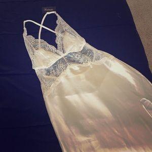 White Silk Nightgown/Lingerie